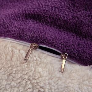 Image 5 - Manta de cama de felpa de doble cara para invierno, suave y cálida, franela, cordero, Cachemira, funda de edredón, mantas clásicas, regalo de Año Nuevo