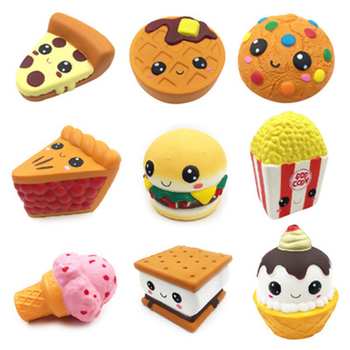 Jumbo Chocolate Biscuits Cheese Cute Squishy Slow Rising Soft Squeeze Toy Phone Strap Scented Relieve Stress Fun Stress Toys jumbo kawaii chocolate biscuit squishy soft squeeze toy simulation bread cake scented slow rising anti stress fun for kid gift