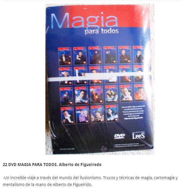 Magia para todos-alberto de figueiredo (22 dvd)-truques de mágica