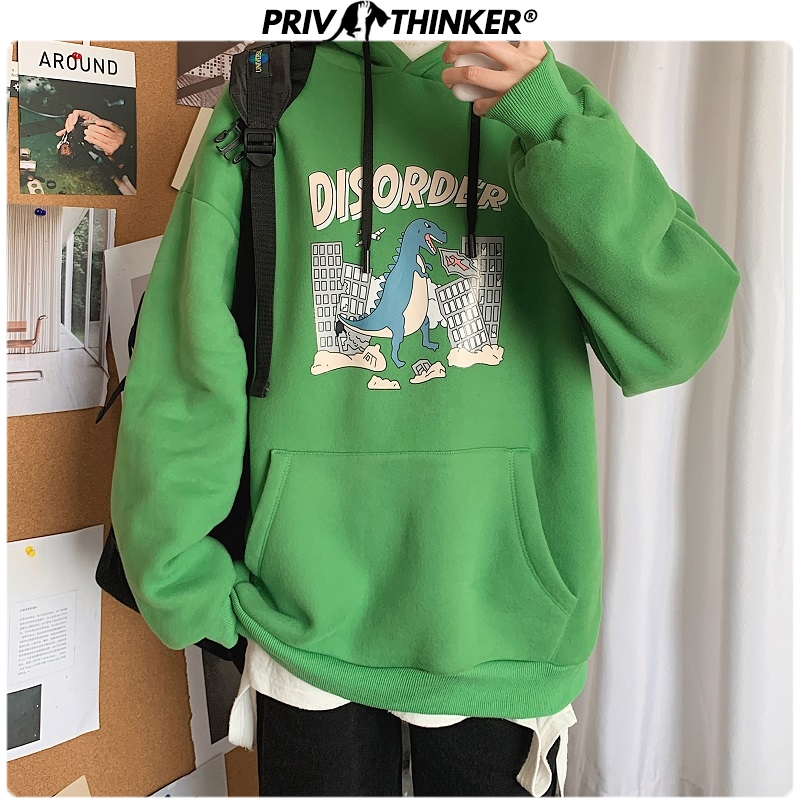 Privathinker Men's New Thick Funny Printed Spring Hoodies Men 2020 Fashion Harajuku Hooded Sweatshirt Male Clothes Hoodies Teen