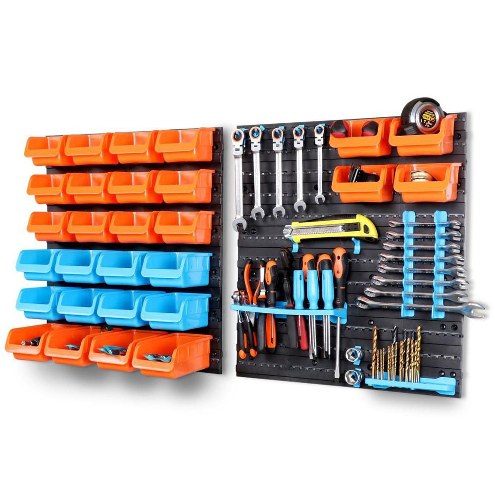 Hardware Tools Wall-Mounted Storage Bin Rack Screw Wrench Classification Component Tool Parts Organiser Plastic Hook Tool Box