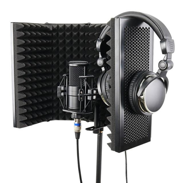 Bouclier d'Isolation de Microphone de Studio Pliable