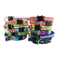 Pet Cat Collar With Bell Adjustable Kitten Cat Safety Casual Sequin Collar Neck Strap Cat Accessories Pet Supplies 2 Sizes cat collar pet supplier pet accessories pet calm collar adjustable tpr neck strap cat small dog soothing collar