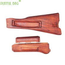 CS Toy part AK Solid Wood Kit Three-piece Kit AK105 CPAK74MS Water Bomb Modification of Red Flower Pear Wood Guard Backrest KD55