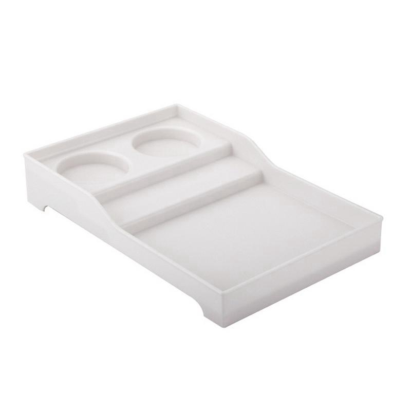 Big deal Hotel Supplies Abs Toothbrush Holder Bathroom Disposable Toiletries Storage Tray White image