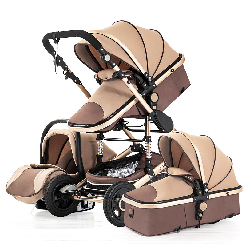 Baby Stroller With Car Seat Newborn Sleeping Basket 3 IN 1 Portable Baby Pushchair Baby Pram Baby  Folding Lightweight Cart