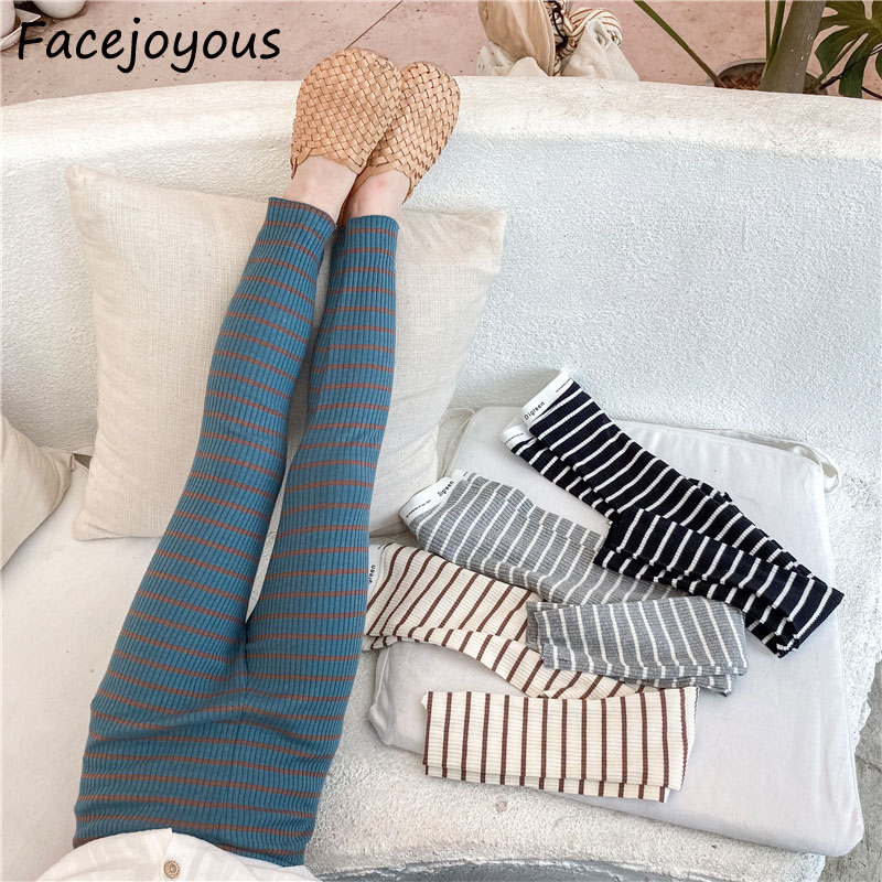 2020 Hot Sale Lovely Striped Solid Color And Cotton Material Girls Pants Autumn New Arrival Baby Girls Outwear Leggings