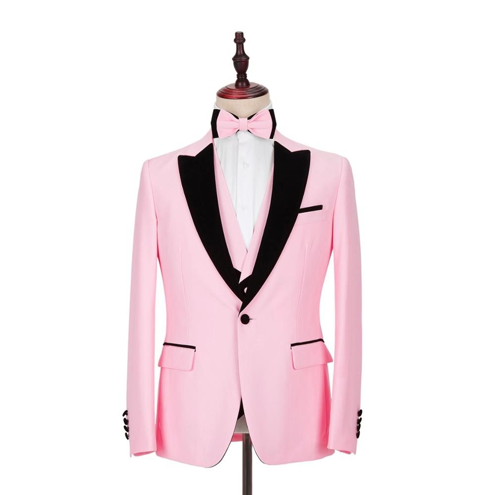 2020-New-Pink-Mens-Suits-3-Piece-Slim-Fit-for-Wedding-Dinner-Suit-for-Men-Blazer