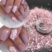 TCT-378 массивный микс шестиугольник розовый и красный металлический блеск для ногтей Блестки для украшения ногтей стаканы ремесло DIY аксессуары фестиваль