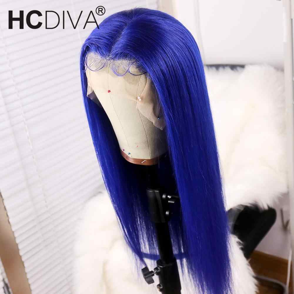 Brazilian Straight 613 Blonde Lace Front Wig 150% Blue Lace Front Wig Remy 13*4 Transparent Lace Front Human Hair Wig For Women