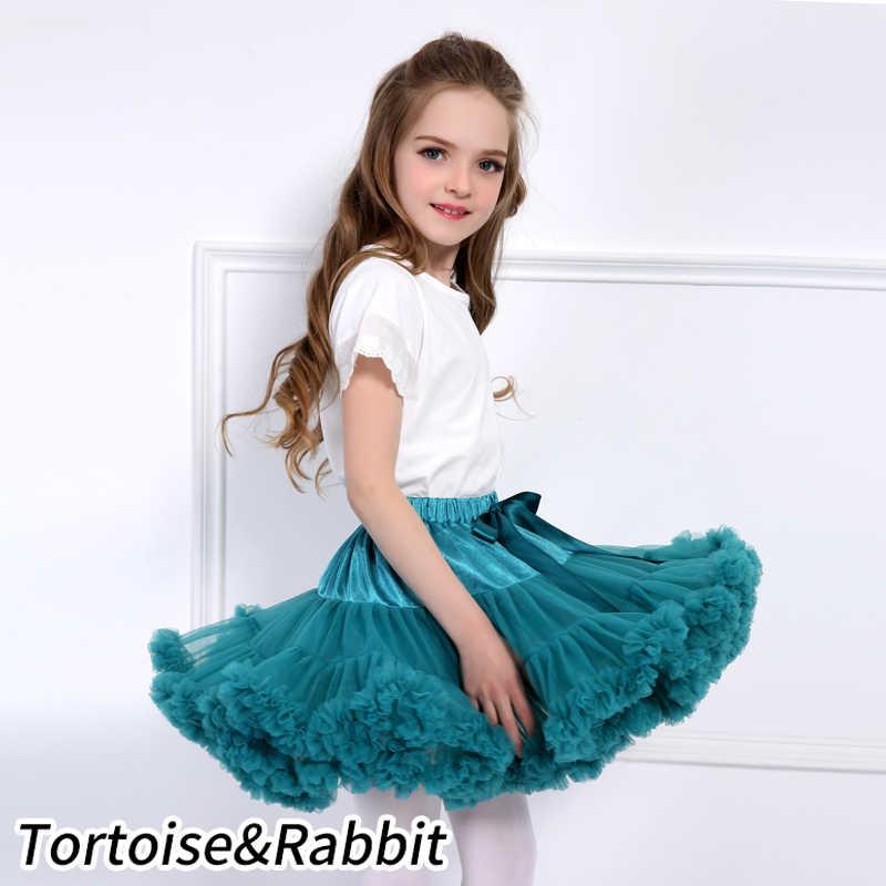 女の赤ちゃんチュチュスカートふわふわ子供バレエ子供ペチコートスカート王女チュールパーティーダンススカート女の子のための格安