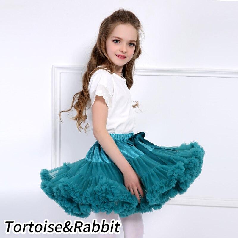 US $7.96 24% OFF Dziewczynek spódnica Tutu puszyste dzieci balet dzieci Pettiskirt dziewczynka spódnice księżniczka Tulle Party spódnice do tańca dla