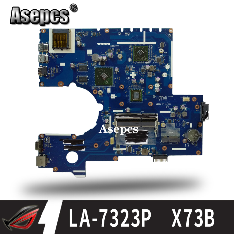 For ASUS K73B X73B X73BY X73B Laptop motherboard PBL70 LA 7323P REV.1.0 with AMD porcessor full test|Motherboards| |  - title=