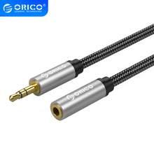 ORICO Audio câble Jack 3.5mm Aux câble Jack mâle à femelle stéréo haut-parleur ligne pour ordinateur iPhone ordinateur portable TV DVD 0.5m 1m 1.5m 2m
