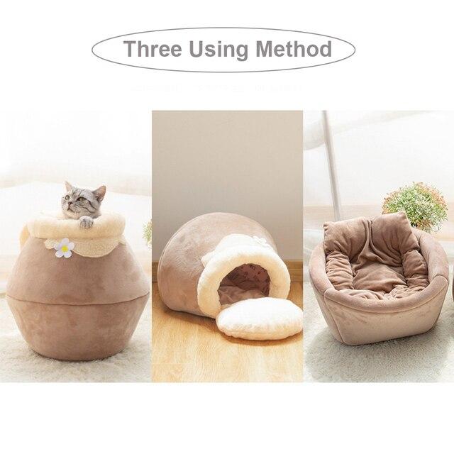 Foldable honeypot shape cave sleeping mat with pillow 2