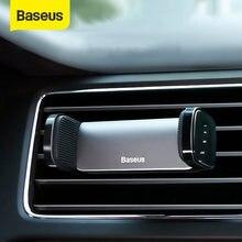 Support de téléphone de voiture Baseus pour iPhone 12 11 Pro Samsung Xiaomi Huawei Support de montage d'évent automatique Support de Smartphone Support de téléphone de voiture