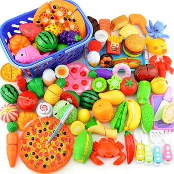 Children Mini Kitchenware Toys Set Pretend Play Game Cutting Fruit Vegetable Girls Toys Learning Educational Toys 12-24 PCS 1