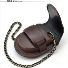 Special offer brown retro cowboy leather case pocket watch waist watch quartz mechanical men and women antique gift watches