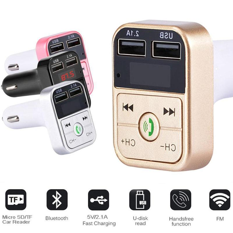 Wireless <font><b>Bluetooth</b></font> <font><b>FM</b></font> <font><b>Transmitter</b></font> Modulator Dua Usb 2.1A <font><b>Car</b></font> <font><b>Charger</b></font> <font><b>Car</b></font> Radio <font><b>Adapter</b></font> <font><b>Car</b></font> <font><b>Mp3</b></font> Player Handsfree <font><b>Car</b></font> Kit Styling image