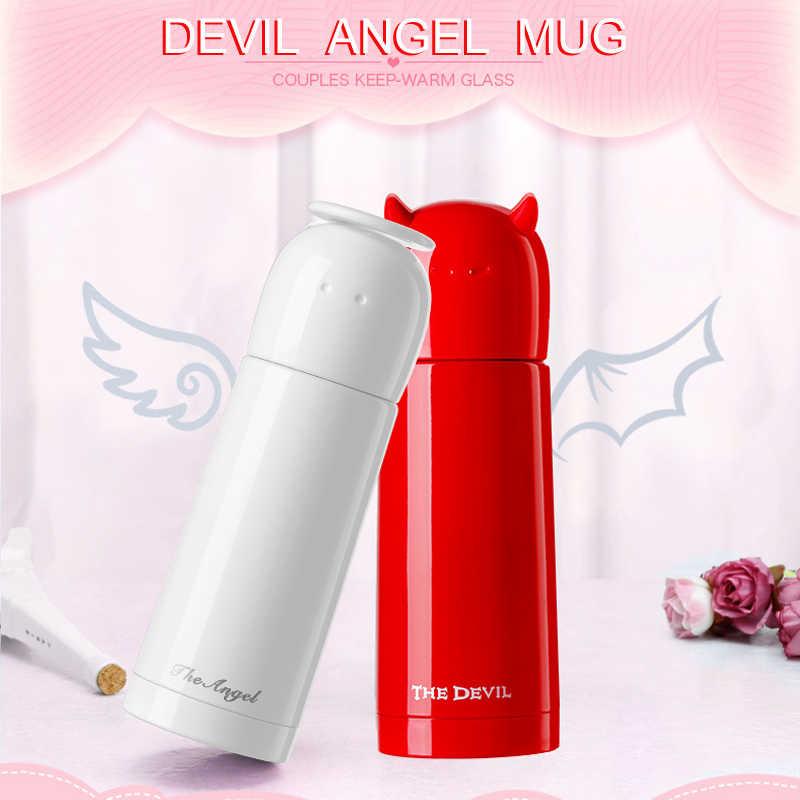 Custom Water Bottle Creative Couple Cup Angel Water Bottle Men And Women Bullet Cup Children Stainless Steel Water Cup Instagram