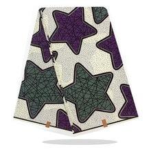 Хлопчатобумажная ткань с Африканским восковым принтом 100% Высококачественная