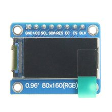 new 1 8 inch tft lcd lcd display spi interface solder 14pin 128160 hd resolution used as meter meter character icon etc 0.96inch LCD display Module IPS screen 160x80 HD resolution SPI interface with embedded controller Replacement