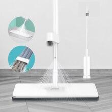 Mãos livres spray mop microfibra piso limpeza com almofadas laváveis recarregáveis esfregão liso para cozinha casa folhosa laminado mop kit