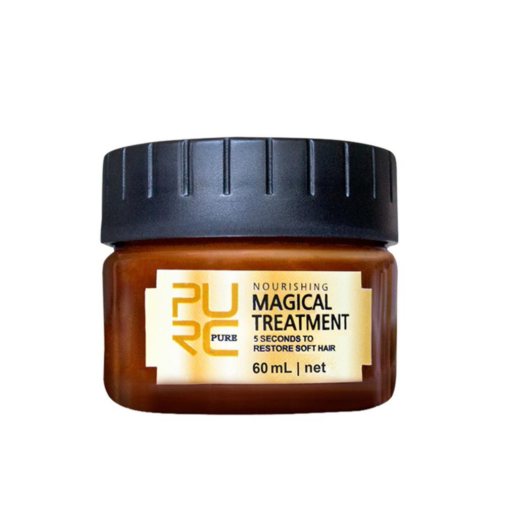 60ml Magical Treatment Mask For PURC 5seconds Repairs Damage Restore Soft Hair For All Hair Types Keratin Hair&Scalp Treatment