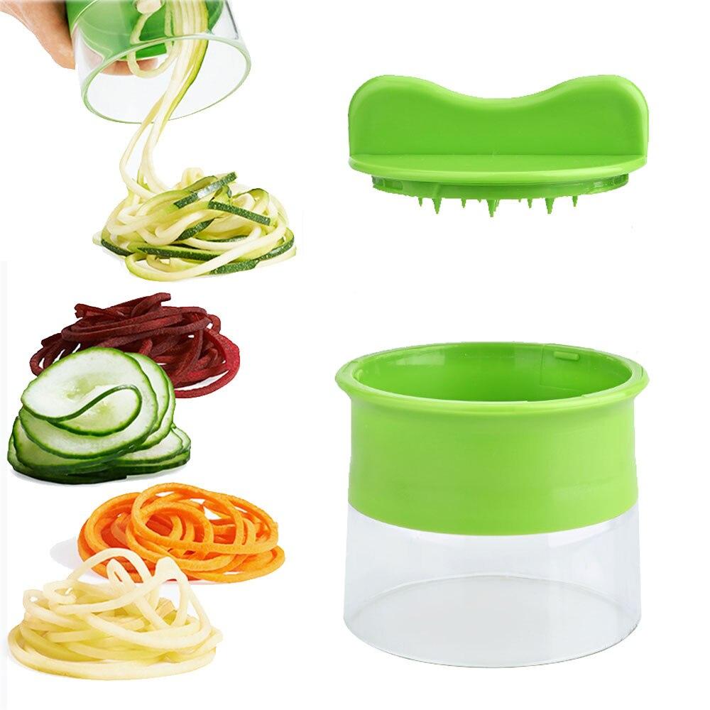 Ручная спиральная терка для морковки, картофеля, огурца, резак для салата, лапши, спагетти, лезвие из кабачков, спиральные инструменты, овоще...