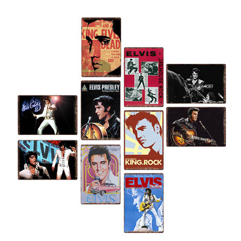 Elvis Presley Metal Tin Sign Metal Vintage Poster Tin Plaques Bar Wall Decoration Club Room Pub Art Paintings Home Decor beer tin sign metal car plate license vintage shabby pub bar wall plaques posters restaurant rome decor metal hanging paintings