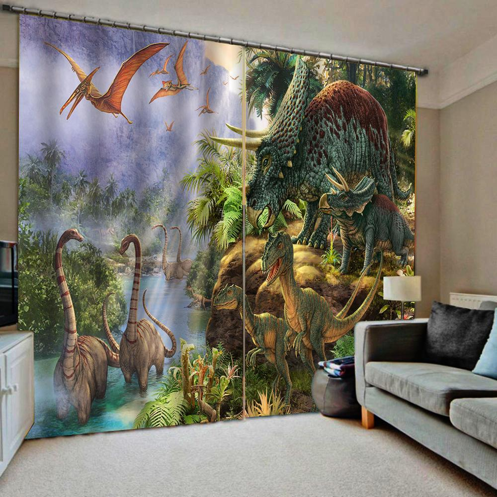 Customized Size Luxury Blackout 3D Window Curtains For Living Room Animal Curtains Kids Curtain