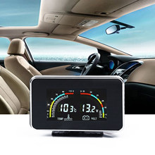 Newest Universal LCD Display Car Digital Water Temperature Gauge Kit 3 Digit Sensor Plug DC 9V - 36V For Car Engine(China)