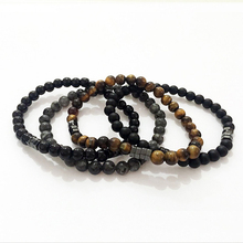2019 New Fashion Geometric Beaded Men Bracelets Simple Classic Stone Bead Charm & Bangles For Jewelry Gift