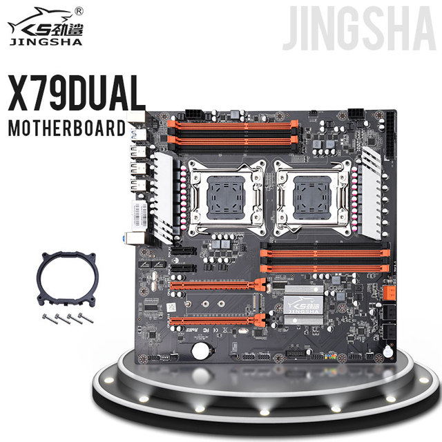 Jingsha X79 المزدوج وحدة المعالجة المركزية اللوحة LGA2011 SATA3.0 E ATX M.2 DDR3 اللوحة
