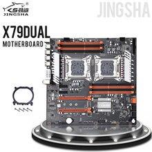 Материнская плата Jingsha X79 с двойным процессором, материнская плата LGA2011 SATA3.0 E ATX M.2 DDR3