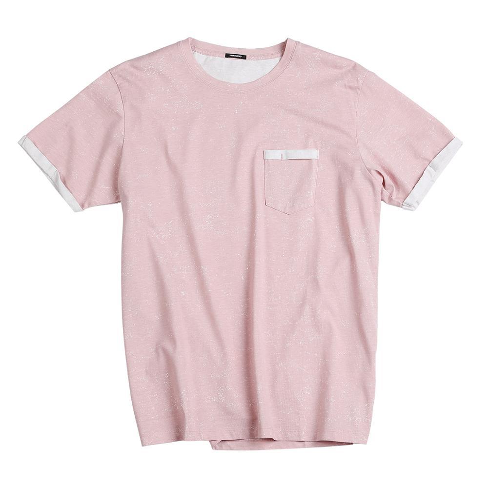 Image 5 - SIMWOOD 2019 summer new Layered chest pocket t shirt men Melange vintage short sleeve fashion tshirt 100% cotton tops 190431-in T-Shirts from Men's Clothing