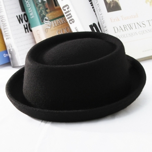 Image 3 - GEMVIE klasyczne 100% wełna miękki Pork Pie kapelusz Fedora dla mężczyzn kobiety jesień zimowa wełniana czapka zakrzywione rondo