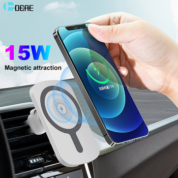 Wireless Car Charger Mount Stand for iPhone 12/12 Pro/Mini/Pro Max 15W Fast Charging Magnetic Wireless Charger Car Phone Holder image