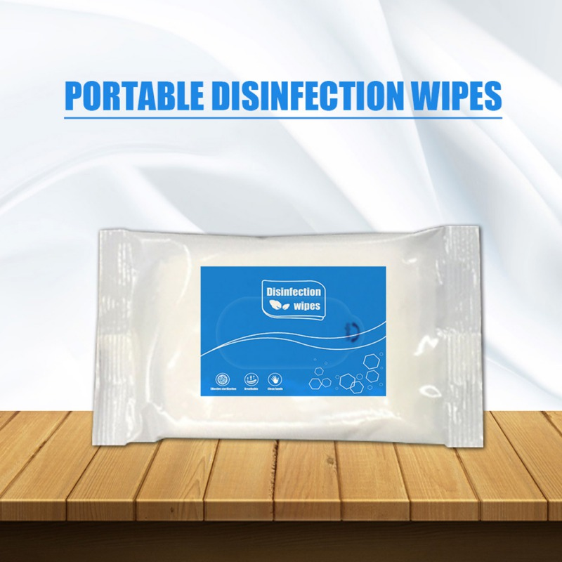 Portable Disinfection Wet Wipes Cleaning Sterilizing Antibacterial Wipes Disinfection Wipes Cleaning Hand, Phone Screen 10Pcs