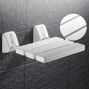 Image 2 - 벽 마운트 샤워 좌석 욕실 샤워 접는 좌석 접는 해변 목욕 샤워 의자 화장실 샤워 의자