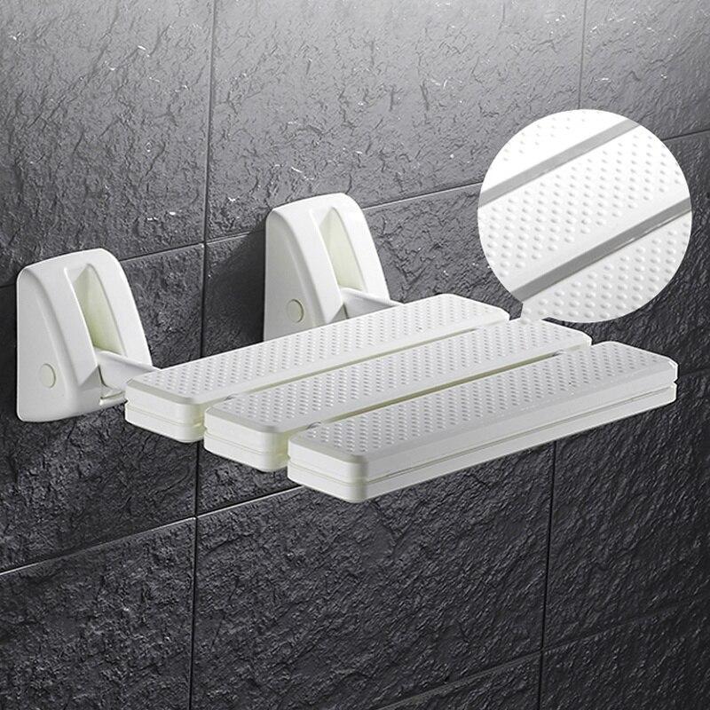 Image 2 - Wall Mounted Shower Seat Bathroom Shower Folding Seat Folding Beach Bath Shower Stool Toilet Shower ChairBathroom Chairs & Stools   - AliExpress