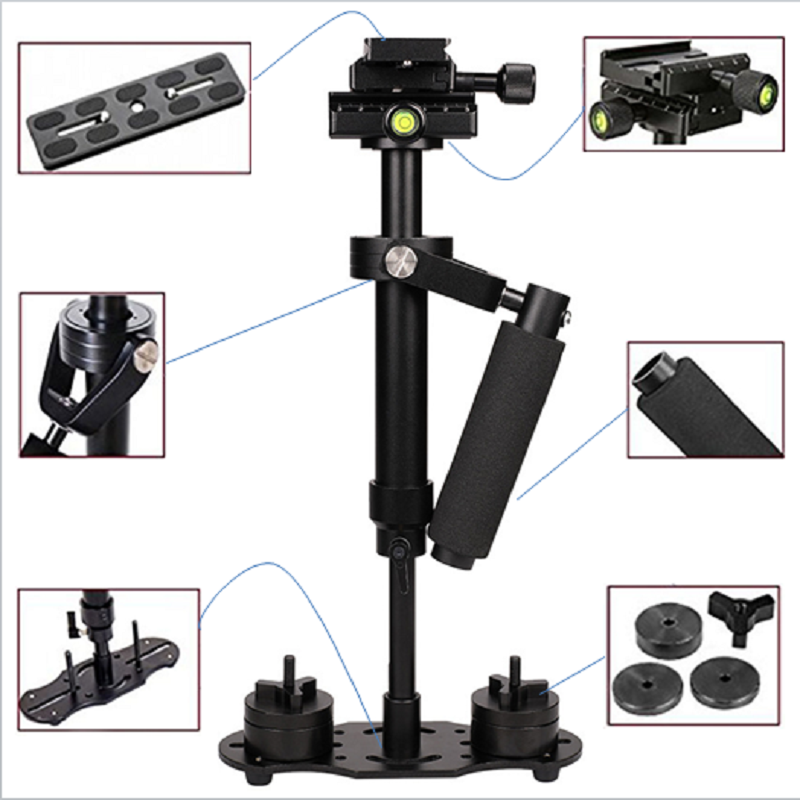 ALLOYSEED S40 40cm Aluminum Alloy Handheld Video Stabilizer For Steadycam Steadicam Stabilizer For Canon Nikon Sony DSLR Camera