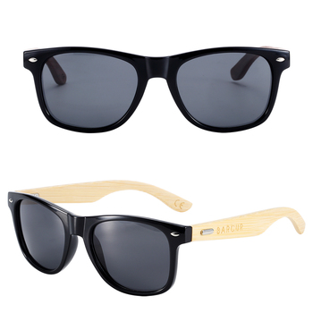 BARCUR Polarized Bamboo Sunglasses  5