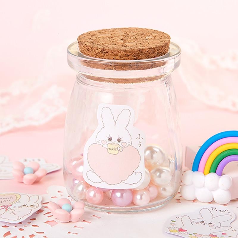rabbit sticker on a jar