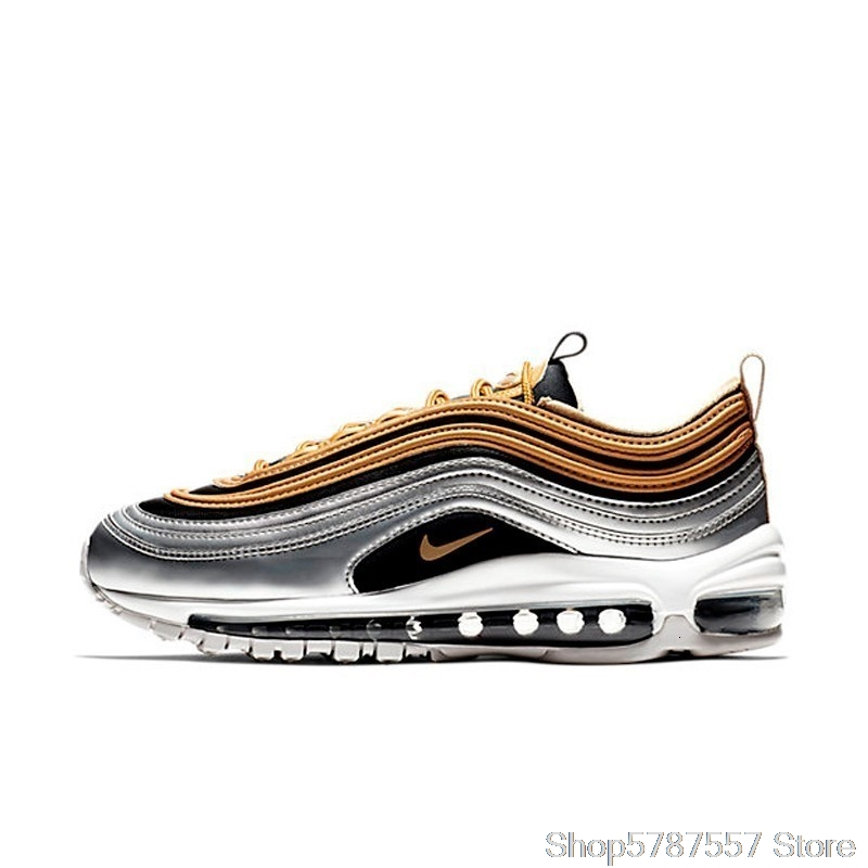 Originale Autentico Nike Air Max 97 OG QS Pallottola D'argento scarpe Da Ginnastica Da uomo Traspirante Runningg Scarpe 921733-102