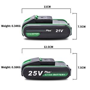 Image 3 - 12V 16v 21v 25v בתוספת סוללה באיכות גבוהה ליתיום סוללה נטענת חשמל תרגיל ליתיום סוללה יד תרגיל סוללה