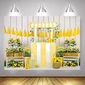 Вечерние фоны для фотосъемки с лимонами и фруктами, фон для фотосъемки новорожденных на день рождения, белый деревянный фон для фотосессии ...