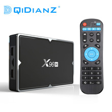 New X96H 6K Android 9.0 TV Box 4G 32G With Dual Band Wifi Blueooth Support HDMI IN OUT Youtube set top box PK X96 MINI MAX