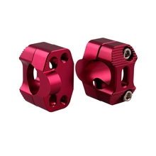 28MM CNC Aluminum Motorcycle Handlebar Risers 28mm Adjustable Fat Bar Clamps Universal For KTM EXC YZF CRF KLX Dirt Pit Bike