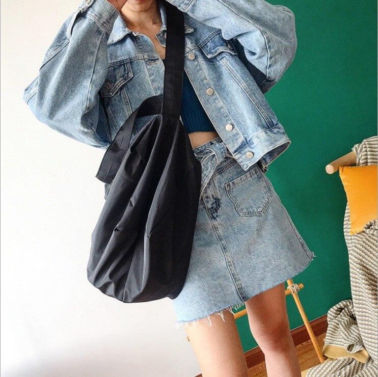 Image 2 - Ins 조수 숄더 가방 여성 새로운 유럽과 미국의 패션 솔리드 컬러 메신저 가방 대용량 간단한 휴대용 맞추기-에서헬스가방부터 스포츠 & 엔터테인먼트 의